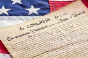 American flag declaration