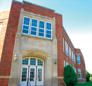 Built in the 1920s as Rogers City High School, the Grambau Education Center is now being considered as a possible new site of the Presque Isle County District Library. (Photo by Peter Jakey)