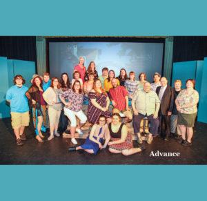 "The cast of ""Mamma Mia!"" (Photo by Jennifer S. Adkins)"